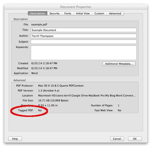 adobe document properties
